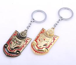 $enCountryForm.capitalKeyWord NZ - Braum Shield Logo Key Chain Holder Ring LOL Keychain For Car Men Women Best Gift Drop-shipping Chaveiro Accessory