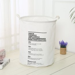 $enCountryForm.capitalKeyWord NZ - 5pcs lot Folding Portable Laundry Basket Cotton Linen Dirty Clothes Storage Barrel Household Sundries Organizer 40*50cm