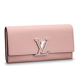 $enCountryForm.capitalKeyWord Australia - 2019 M61250 CAPUCINES WALLET pink Real Caviar Lambskin Chain Flap Bag LONG CHAIN WALLETS KEY CARD HOLDERS PURSE CLUTCHES EVENING