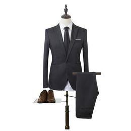 $enCountryForm.capitalKeyWord UK - Black Mens Wedding Suits Cheap Wedding Party Groomsmen Suits For Men Slim Fit Mens Tuxedo Custom Made (Jacket+Pant)