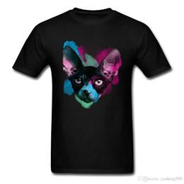 344917172 Weird Cat Black T-shirt Men Custom Design Tees Watercolor Sphynx Unique  Summer Short Sleeve Top Shirt Coupons