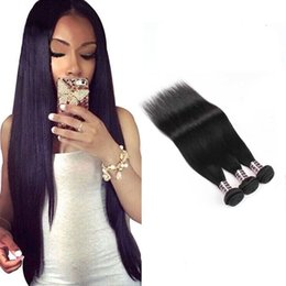 Discount malaysian straight hair 24 inches - 8A Mink Brazillian Straight Hair Extensions Unprocessed Brazilian Peruvian Human Hair Brazilian Body Wave Straight Hair
