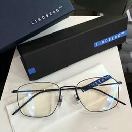 d423d787e8 Lindberg eyeglasses frame titanium Spectacle Frame eyeglasses frames for  Men Women Myopia Brand Designer Vintage Glasses frame clear lens 01