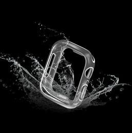 Cubierta de la caja de TPU Crystal Clear Soft Para APPLEA Iwatch Series 1 2 3 4 38mm 42mm 40mm 44mm 300pcss / lot en venta