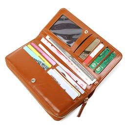 $enCountryForm.capitalKeyWord UK - KEYOUKEYOU Vintage Wallet Women Long Clutch Wallets Oil Wax Female Purse Pu Leather Phone Wallet For Women Credit Card Wallets