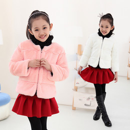 $enCountryForm.capitalKeyWord NZ - Fashion Autumn and winter children bunny clothing baby girls faux fur outwear coat girl's jacket children's warm coat kids tops