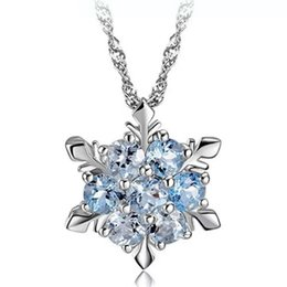 Woman silver necklaces crystal jewelry snowflake pendant necklaces wedding  vintage fashion top colorful quality necklaces charms 76d4ea3a0672