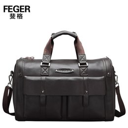 genuine leather duffle bags 2019 - Durable Thicken Cow Leather Big Men Handbags Fashion Genuine Leather Men's Travel Bags Dress Travel Duffle for gent