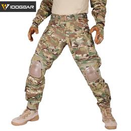 IDOGEAR G3 Kampfhose mit Knieschützer Taktische Hose MultiCam CP gen3 Jagd Camouflage