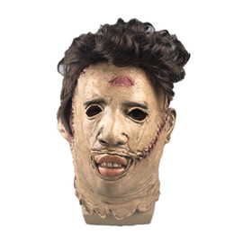 saw halloween NZ - Halloween The Texas Chain Saw Massacre Latex Horrible Mask Cosplay Costume Accessories Scary Mask Party Pranks Unisex Mask Free Shipping