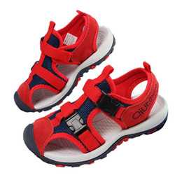 a4d919f7b8e3 Unisex Shoe Child Sandals Boys Fashion Mesh Ribbon Toecap Shoes Girl Summer  Antiskid And Soft Bottom Sandal Kids Playa Shoe  8