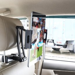 Универсальный выдвижной алюминиевый автомобильный держатель на заднее сиденье для планшета и мобильного телефона с поворотом на 360 для ipad air / mini