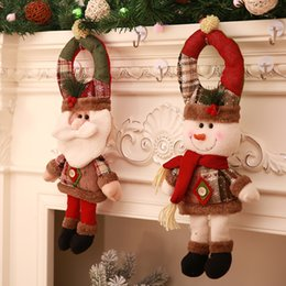 $enCountryForm.capitalKeyWord NZ - 2018 Door Knob Hanging Decoration Santa Snowman Toy Doll Christmas Tree Xmas Show Window Photograph Holiday Gift