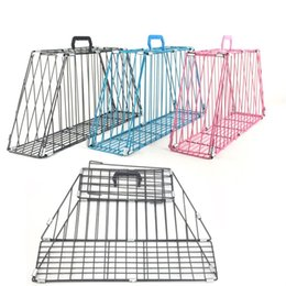 Pet housing online shopping - Strengthened Edition Cat Cage Supplies Foldable Practical Iron Cages Guard Bite Pet Carriers Sturdy And Durable Houses wm3 Ww