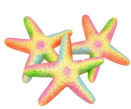 2018 Starfish Rare Jumbo kawaii Cute Squishy Slow Rising Pendant Phone Straps Charms Queeze Kid Toys squishies Queeze Gift