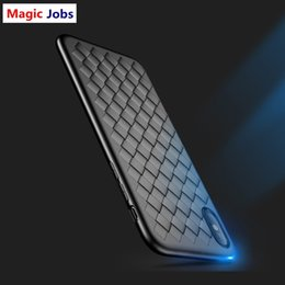 $enCountryForm.capitalKeyWord NZ - Magic_Jobs Super Soft Phone Case For iPhone 8 Luxury Grid Weaving Cases For iPhone 6 6s 7 8 Plus X Cover Silicone Accessories Black