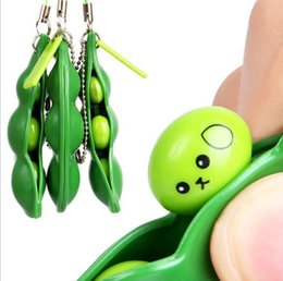 Gadgets For Fun Australia - Squish For Phone keychain Entertainment Fun Beans Squeeze Funny Gadgets Stress Relief Squishy Toys For Mobile Phone keychain