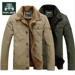 $enCountryForm.capitalKeyWord Canada - NIANJEEP Brand Men cotton padded jacket Winter Thick Velvet Men Cotton Parka Army Green Khaki Warm Coat 6803