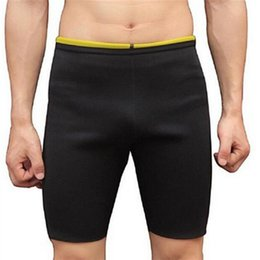 Discount slimming weight loss shorts - Men Slimming Body Shapers Super Stretch Shorts Pants Sweating Neoprene Fitness Weight Loss Burn Fat Sporters Control Pan