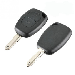 NissaN buttoN cover online shopping - New Button Remote Car Key Cover FOB Shell Traffic Kangoo For Nissan