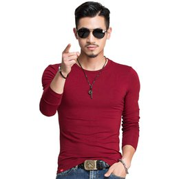 2a3db2335877 Spring Fashion Brand O Neck Slim Fit Long Sleeve T Shirt Men Trend Casual Mens  T Shirts Korean T Shirts 4xl 5xl A005