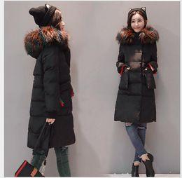 2e285595c Tamanho grande XL-5XL algodão fêmea gordura mm2017 nova moda coreana  temperamento era fina e espessa colorido colar de algodão casaco de 200 kg  de roupas ...