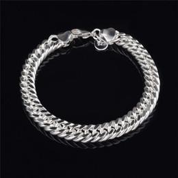 $enCountryForm.capitalKeyWord NZ - 2018 New Design 10MM*20CM plating 925 Sterling silver Figaro chain bracelet Fashion Men's Jewelry Top quality