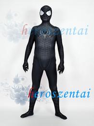 $enCountryForm.capitalKeyWord Australia - 3D Printing Black SpiderMan 2 Spider-Man Morph Superhero Costume Lycra Spandex Spiderman Suit Halloween Party Cosplay Zentai Suit