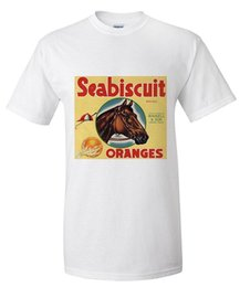 White Label Brands Canada - Cool T Shirts Designs Seabiscuit Brand Lindsay California Citrus Crate Label Short Sleeve Men Fashion 2018 Crew Neck Tee Shirts