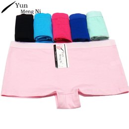Discount short sexy cotton lingerie woman - Yun Meng Ni Women Sexy Boxers Shorts Woman Underwear Cotton Simple Classic Sexy Ladies Knickers Panties Lingerie Boyshor