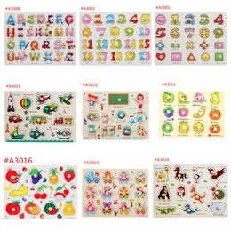 languages learning 2019 - Baby Jigsaw Puzzle Intelligence Development 26 Letters Animals Fruits Wood Board For Infants Education Learning Toys Fre