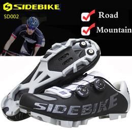 Fiber Loop Australia - Bike Shoes Men Women Superfine M350 Carbon Fiber Non-slip MTB Breathable Cycling Shoes SPD Mountain Road Auto-lock Bicycle