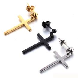 Cross ear men online shopping - Cross earrings unisex earrings cross pendant man woman fashion ear jewelry cool earrings with price