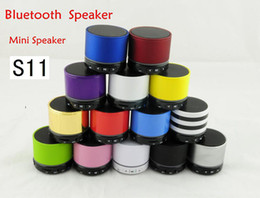 Speaker Mic For Iphone Australia - S11 Wireless Mini Bluetooth Speaker HiFi bluetooth speaker portable with MIC For iPhone 5 MP4 MP3 Tablet PC Music Player 50pcs lot