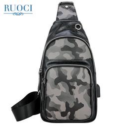 Single Shoulder Strap Packs Australia - RUOCI Brand Men Chest Bag Casual PU Leather Waist Pack Vintage Rucksack Chest Bag Single Shoulder Strap BackBag Travel Phone