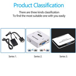 Wholesale Audio TV AV HDTV PC Video Cable VGA2HDMI Converter Adapter Portable Plug and play VGA To HDMI Output P HD High Quality
