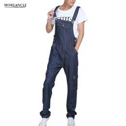 429e331c85f MORUANCLE Men s Baggy Cargo Denim Bib Overalls Loose Jeans Jumpsuits For  Male Suspender Pants Multi Pockets Plus Size S-5XL