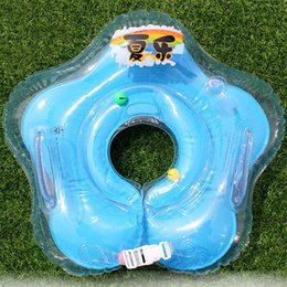 Wholesale Newborn Baby Inflatable Neck Swimming Ring Anti Rear Baby Collar Swimming Rescue Float Baby Inflatable Tube Ring Safety Swim Pool Toy