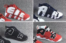 $enCountryForm.capitalKeyWord NZ - [Original box] Hot Sale Air Gold Pippen MORE UPTEMPO Jam Kids Sports Basketball Shoes Children's Maroon Sunset Classic Sneakers Size:28-35