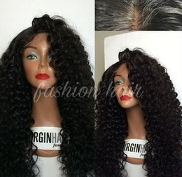 Human Hair Kinky Canada - Full Density Long Kinky Curly Glueless Full Lace Wigs Virgin Peruvian Deep Curly Hair Wig Full Lace Front Human Hair Wigs