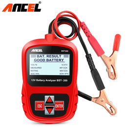 Lcd Tester Australia - 12V Car Battery Tester Analyzer in Russian Digital Car Voltmeter Alternator w  LCD Display for Car Motorcycle Boat