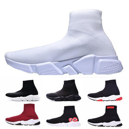 shoe sock sizes 2019 - Speed Trainer Sock Shoes For Men Women Speed Runner Race Black White Running Sports Sneakers Luxury Designer Boots Paris