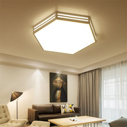 Lampshade frames nz buy new lampshade frames online from best modern led ceiling light fixture white iron frame acrylic lampshade hexagon ceiling lamp for living room kitchen bedroom keyboard keysfo Images