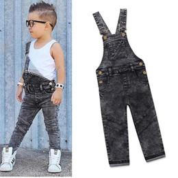 b96f7dc7d7b Boys Bib Jeans Child Jumpsuit Jean Overalls Cute Letter Denim Infant Boy  Children s Clothing Pants Bodysuit 1 2 3 4 5 Years Y18103008