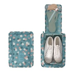 China New Useful Cartoon Travel Organizer Shoe Bags Women's Luggage Storage Wash Bag For Portable Shoes Storage Pouch Bag Blue Daisy cheap plastic daisies suppliers