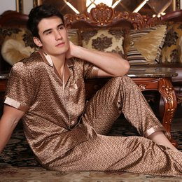 a7dae5c1d3 2018 new mens pajamas sexy silk sleepwear male short sleeve shorts 100% silk  pajamas men homewear sets