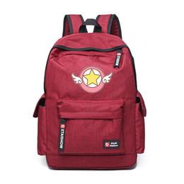 card sakura 2019 - Preppy Style Comic Card Captor Sakura Wings School Backpack Magical Card girl sakura Backpack teenagers bag for children