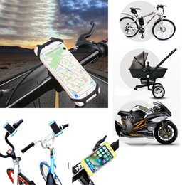 Bike Bags for iphone online shopping - Bicycle Phone Holder For iPhone Samsung Universal Mobile Cell Phone Holder Bike Handlebar Clip Stand GPS Mount Bracket