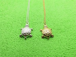 $enCountryForm.capitalKeyWord Australia - Gold Silver Tiny Sea Turtle Charm pendant Necklace Dainty Tortoise Necklaces Lucky Bone Turtle Necklaces for Beach Party jewelry