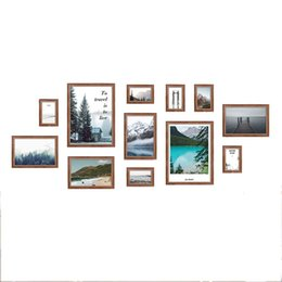 Painted Wall Hangings UK - Photo Frame Wall Gallery Kit Includes: Art Painting Core ,Hanging Wall Template for Interior dining room living room dining room